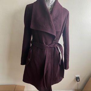 London Fog Heritage Maroon Pea Coat Wool Jacket